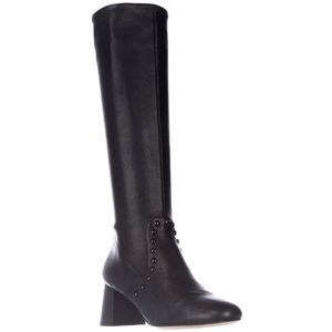 COACH Britney Studded Knee High Leather Boots